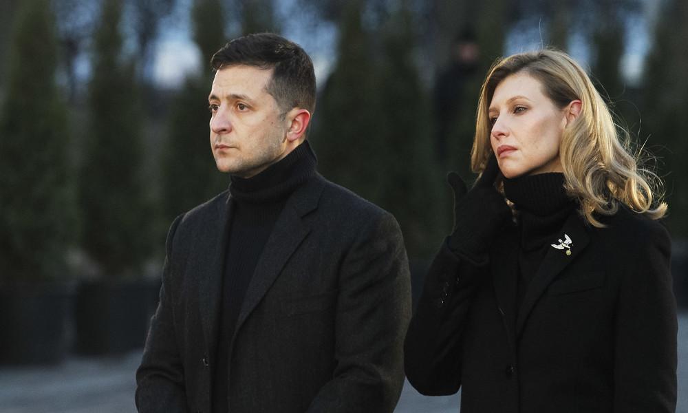 Ukrainische First Lady Jelena Selenskaja mit COVID-19 im Krankenhaus