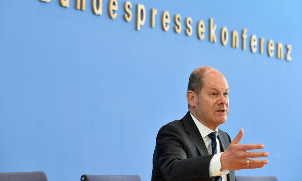 LIVE: Finanzminister Olaf Scholz gibt Pressekonferenz zur Schuldenlage angesichts Corona-Krise