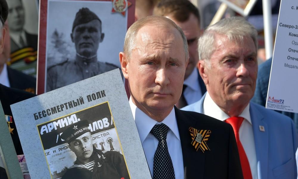 Putin ruft 75 Jahre nach Kriegsende angesichts der globalen Krise zu Einheit und Zusammenarbeit auf