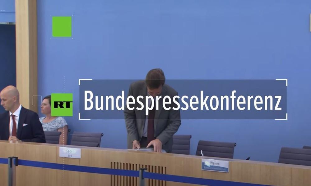 """Bundespressekonferenz zur geplanten Strafanzeige Seehofers gegen taz-Kolumnistin: """"Prüfenswert"""""""