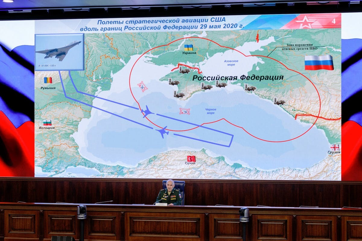 US-Bomber simulieren Angriff auf russische Schwarzmeerflotte