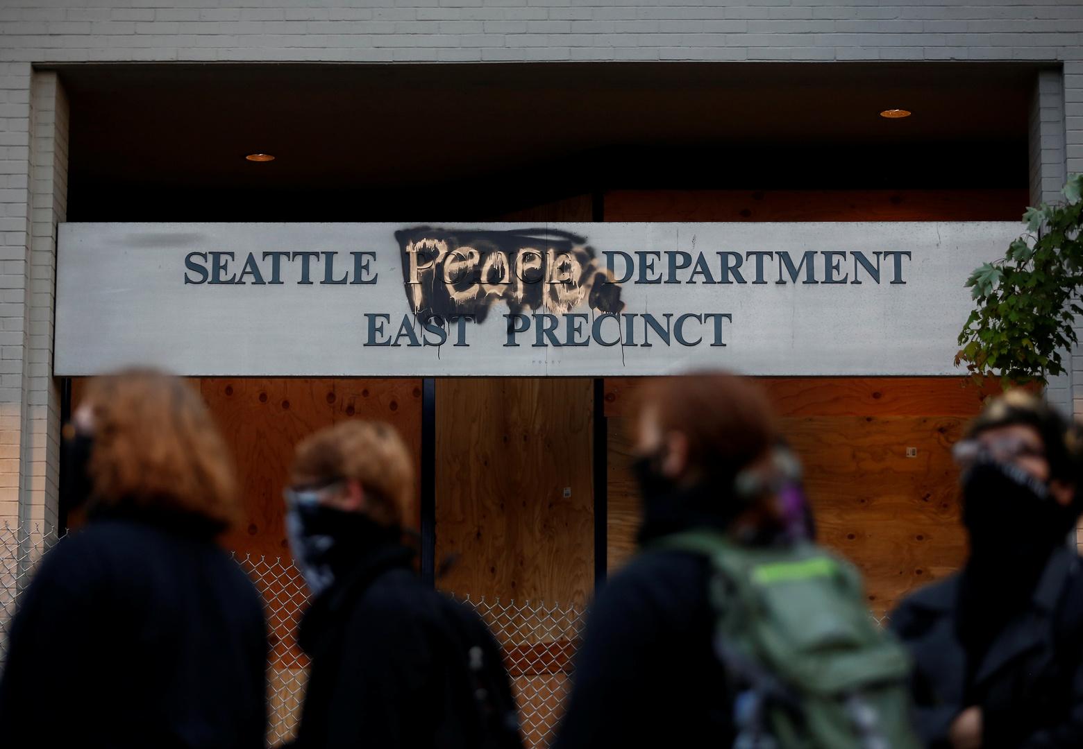 """""""Autonome Zone"""" in Seattle: Aktivisten besetzen von """"Regimekräften"""" aufgegebene Polizeistation"""