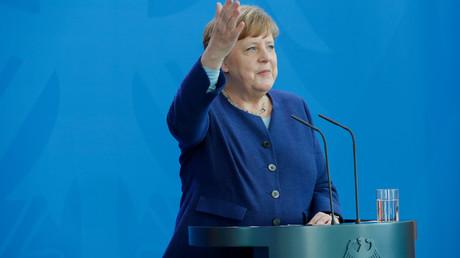 Merkel bei einer Pressekonferenz im Mai 2020 in Berlin