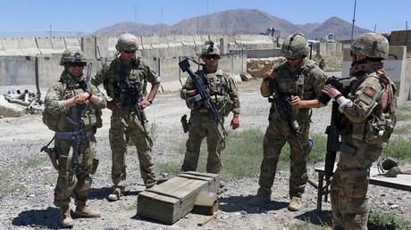 Mitglieder der ab Juni nach Kolumbien verlegten US-Spezialeinheit