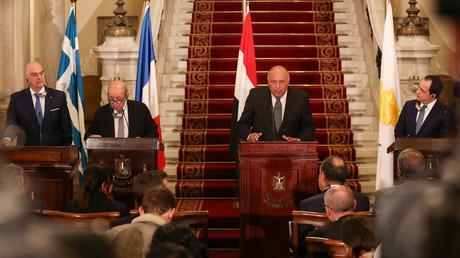 Die Außenminister Ägyptens, Frankreichs, Griechenlands und Zyperns trafen sich am 8. Januar in Kairo, um eine gemeinsame Linie gegen die türkische Politik in der Ägäis und Libyen zu finden.