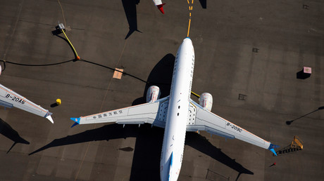 Ein Flugzeug vom Typ Boeing 737 MAX 8 der China Southern Airlines auf dem Boeing Field in Seattle