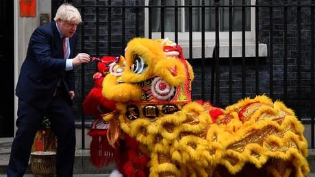 (Archivbild). Der britische Premier Boris Johnson während eines Empfangs zum chinesischen Neujahrsfest in der Downing Street 10 im Zentrum Londons, Großbritannien.