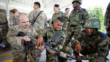 Kolumbianische Soldaten und US-Fallschirmjäger nach einer militärischen Übung in Kolumbien, Januar 2020 (Symbolbild).