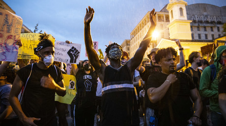 Demonstration am Weißen Haus gegen Polizeigewalt. (Washington DC, 04. Juni 2020)