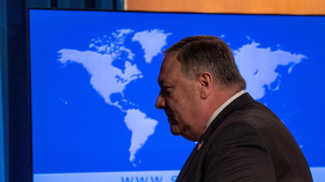 Pompeo im Mai 2020 in Washington