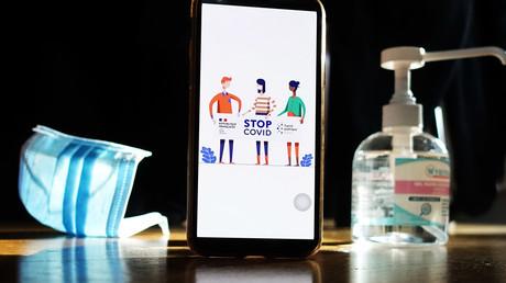 Symbolbild für eine Corona-App (auf dem Bild: französische Tracing-App)