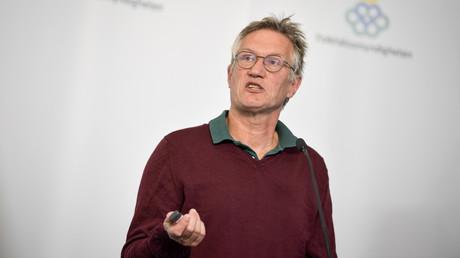 Schwedens Staatsepidemiologe Anders Tegnell bei einer Pressekonferenz am 27.05.2020 in Stockholm.