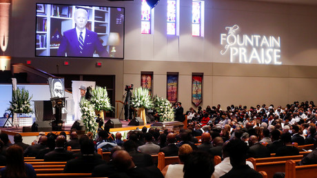 Während der Trauerfeier des durch einen brutalen Polizeieinsatz getöteten Afroamerikaners George Floyd ergriff der designierte demokratische US-Präsidentschaftsbewerber Joe Biden per Videolivestream das Wort.