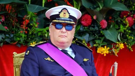 (Archivbild). Prinz Laurent von Belgien am 21. Juli 2018 in Brüssel während einer Militärparade anlässlich des belgischen Nationalfeiertags.