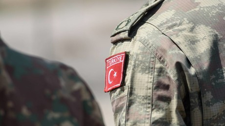 Symbolbild: Das Abzeichen eines türkischen Soldaten während der im Juni 2019 in Polen abgehaltenen NATO-Übung