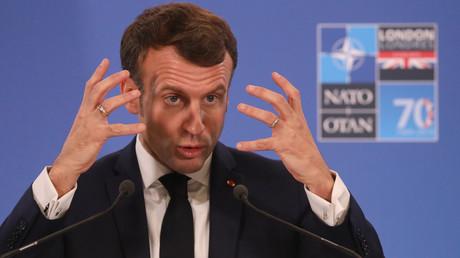 Archivbild: Frankreichs Präsident Emmanuel Macron während des NATO-Gipfels 2019 in London. (4. Dezember 2019)