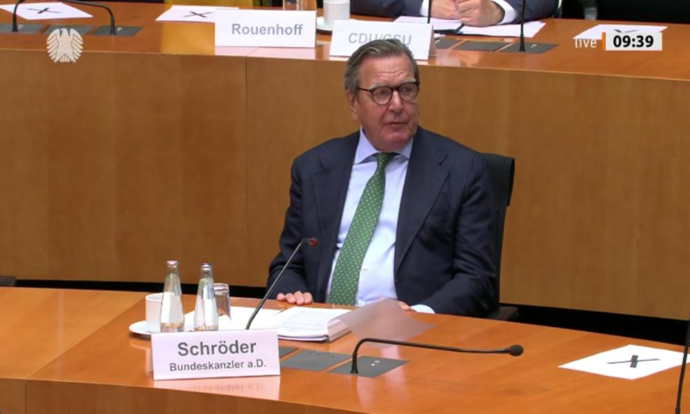 Ex-Kanzler Schröder fordert Sanktionen gegen die USA wegen Vorgehen gegen Nord Stream 2