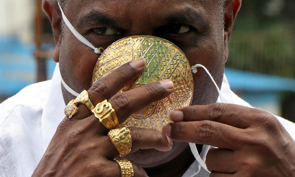 Gold gegen Corona: Inder lässt sich Mundschutz für knapp 3.500 Euro anfertigen
