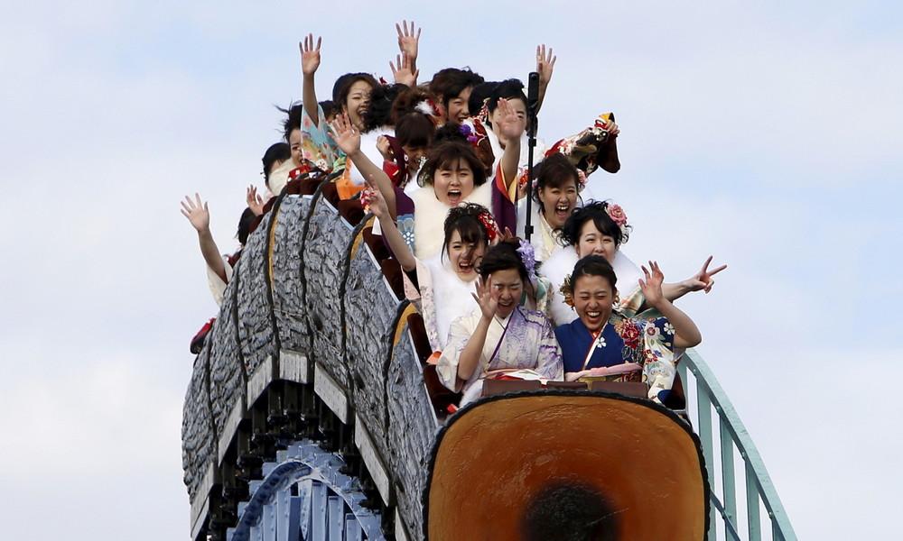 """""""Behalten Sie Ihr Schreien für sich"""": Kreischen auf Achterbahnen in Japan pandemiebedingt verboten"""