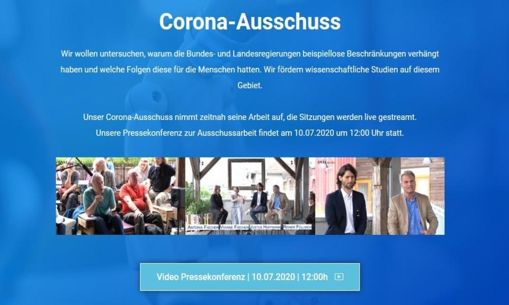 Corona-Krise: Pressekonferenz der Stiftung Corona-Ausschuss in Berlin