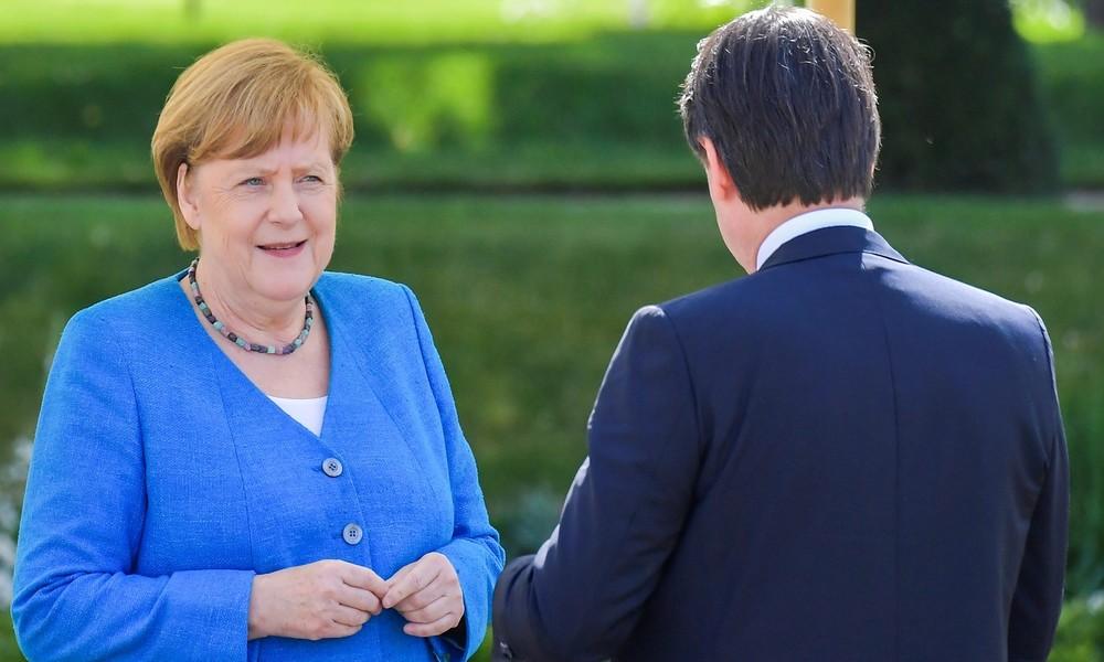LIVE: Italiens Premierminister Giuseppe Conte und Kanzlerin Merkel geben gemeinsame Pressekonferenz
