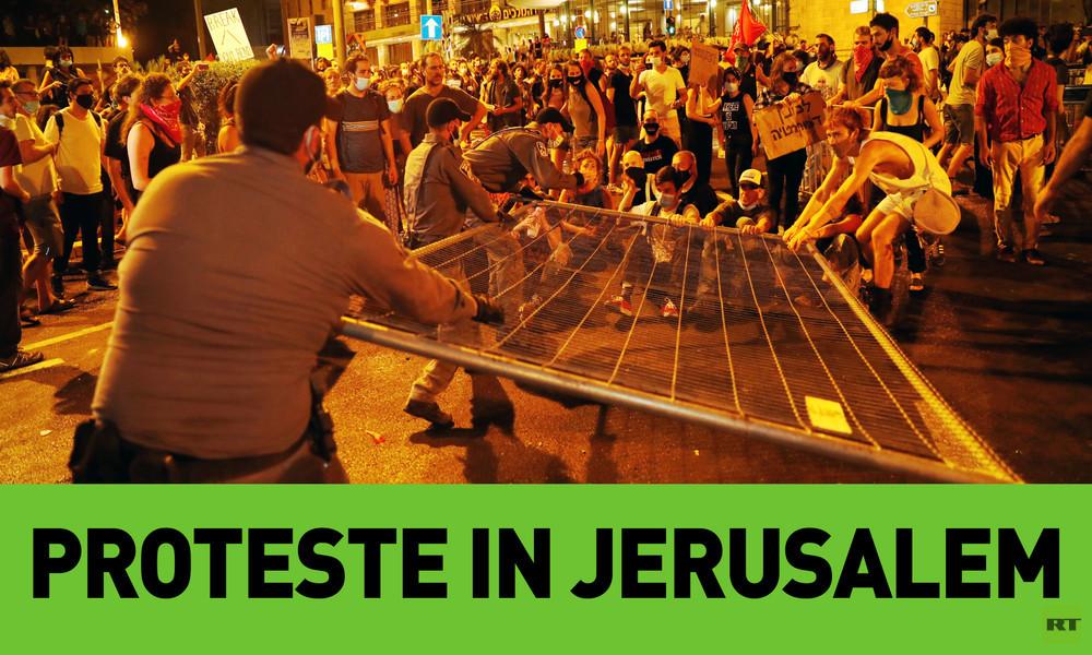 Proteste gegen die Regierung in Jerusalem
