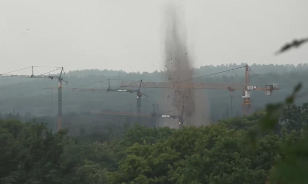 Potsdam: 250 Kilogramm schwere US-Weltkriegsbombe nach Evakuierung gesprengt