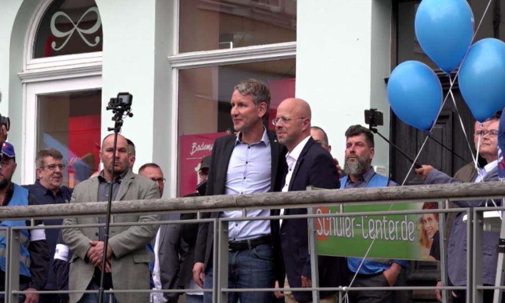 Altenburg: AfD-Auftritt löst Gegenprotest aus – Bürgermeister muss Tweet gegen Höcke löschen