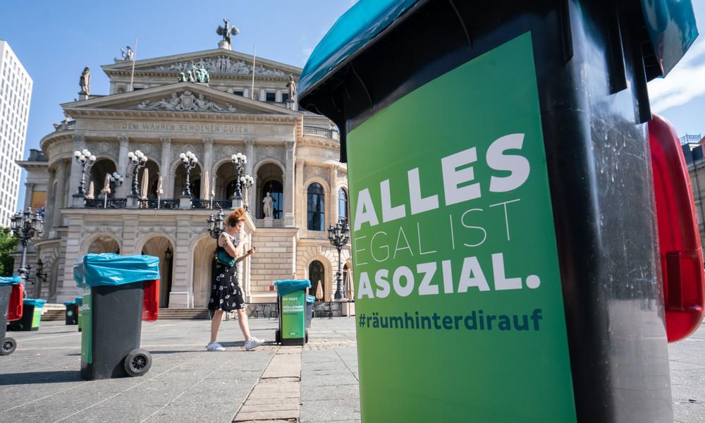 Frankfurt am Main: Glasscherben auf Opernplatz nach nächtlichem Party-Chaos
