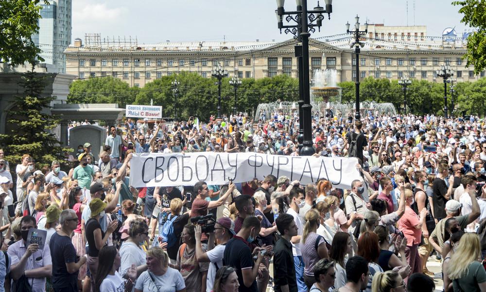 Russland: Auch am Wochenende Massenproteste in Chabarowsk