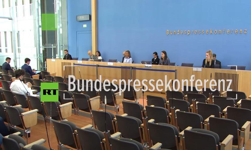 Bundespressekonferenz zu Bittbrief an US-Kongress: Dient US-Basis Ramstein wirklich dem Weltfrieden?