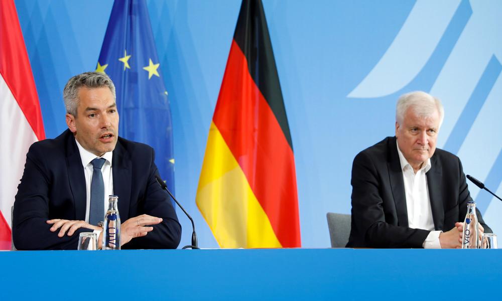 LIVE: Innenminister von Deutschland & Österreich geben Pressekonferenz bei Migrationsgipfel in Wien