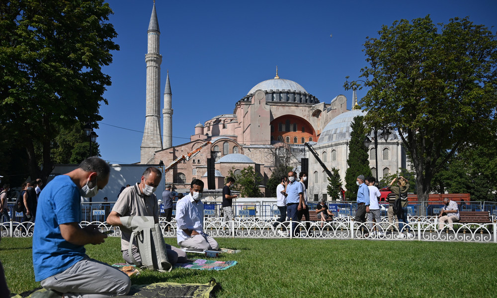 LIVE aus Istanbul: Erstes Freitagsgebet an der Hagia Sophia nach Umwidmung zur Moschee