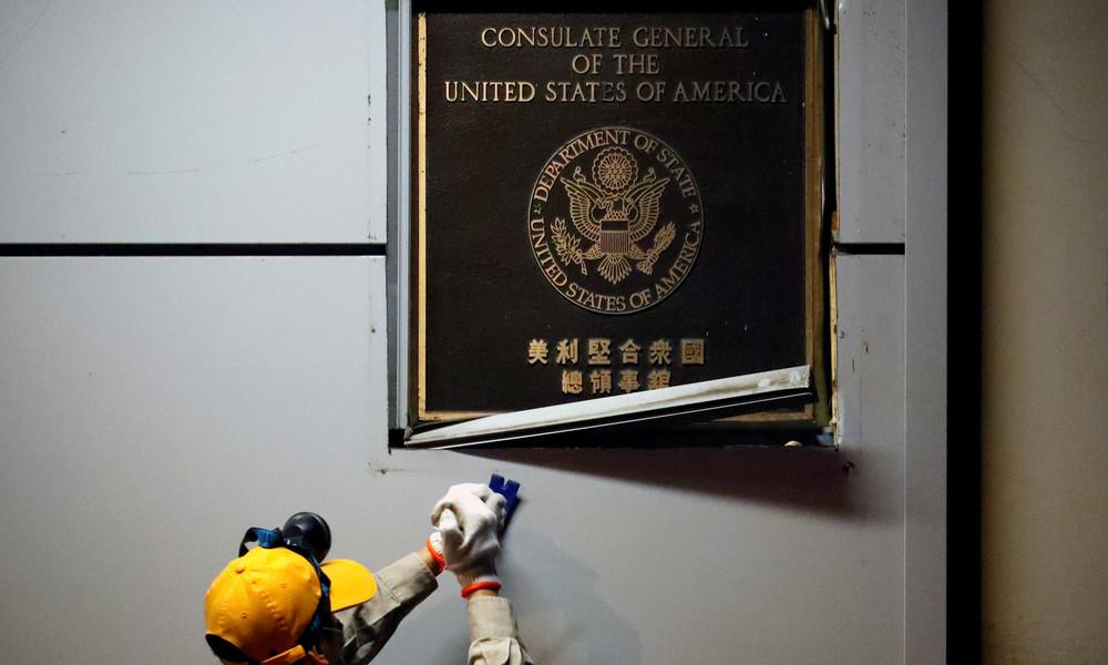 Nach dem Rausschmiss: China übernimmt offiziell US-Konsulat in Chengdu (Videos)
