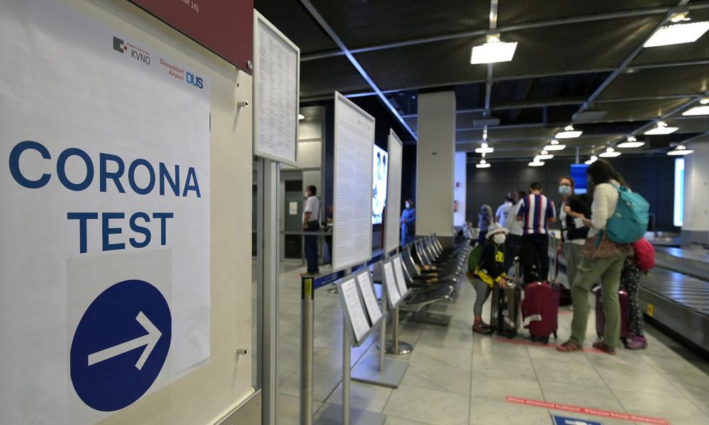 Corona-Testzentrum für Urlauber am Flughafen Münster/Osnabrück
