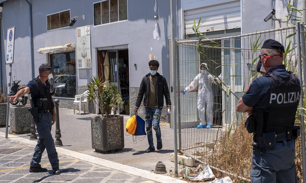 Sizilien: Massenflucht von Migranten aus Quarantäne – Rom will Militär auf die Insel schicken