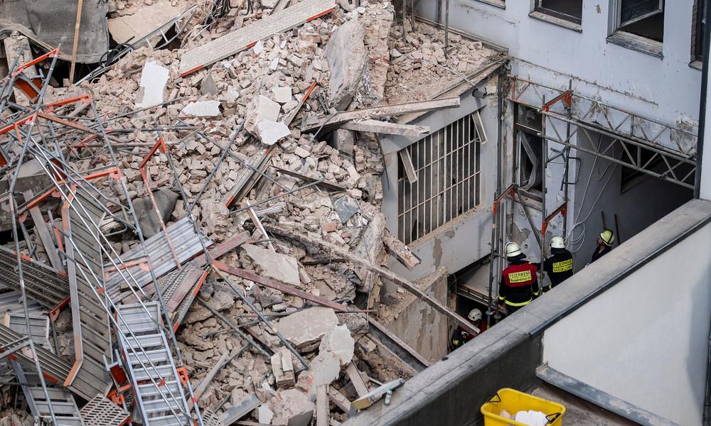 Ein Toter bei Gebäudeeinsturz in Düsseldorf