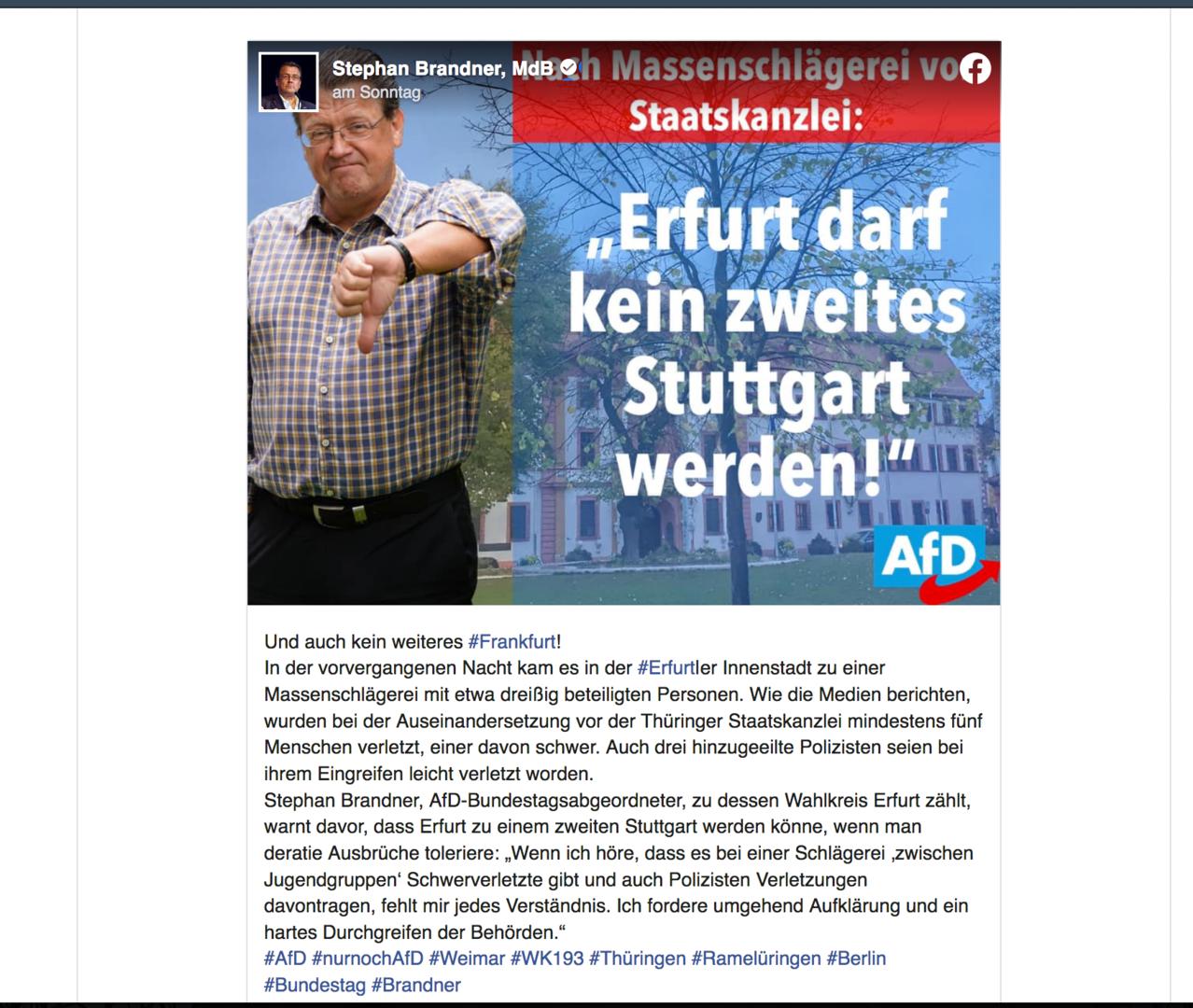 Staatsschutz ermittelt nach brutalem Angriff teils rechts motivierter Täter in Erfurt