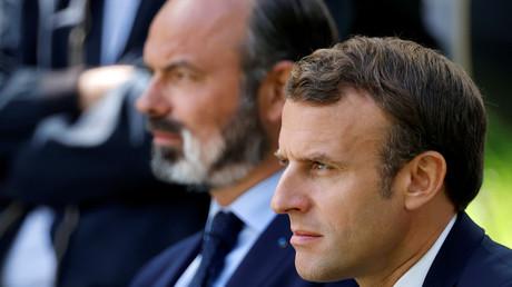 Der französische Premierminister Édouard Philippe und Präsident Emmanuel Macron