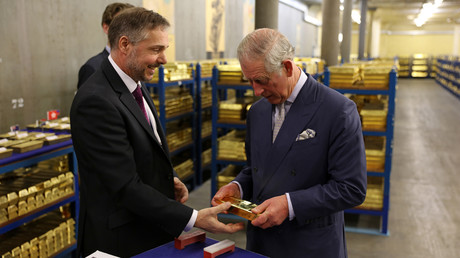 Prinz Charles in der Bank of England: