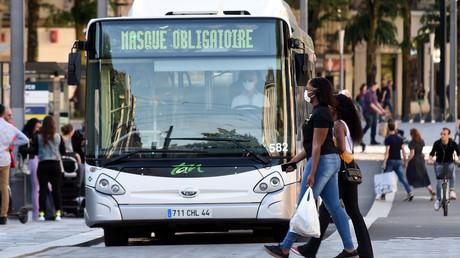 Ein Bus mit der Aufschrift
