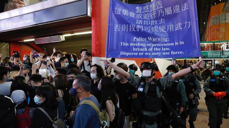 Bereitschaftspolizei zerstreut Protestaktion in Hongkong