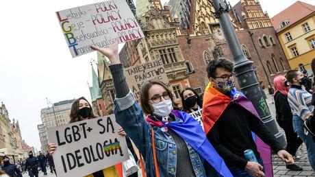 Protest für LGBT-Rechte in Breslau, Polen
