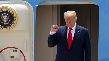 US-Präsident Donald Trump bei seiner Ankunft in Miami am 10. Juli 2020. Bei seinem dortigen Besuch äußerte er sich auch gegenüber dem spanischsprachigen US-Sender Telemundo zur Lage in Venezuela.