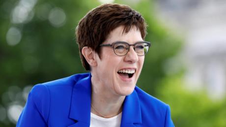 Bundesverteidigungsministerin Annegret Kramp-Karrenbauer beim ARD-Sommerinterview am 5. Juli.