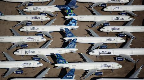 Auf dem Bild: JetBlue-Flugzeuge in Pinal Airpark in Marana im US-Bundestaat Arizona, 16. Mai 2020