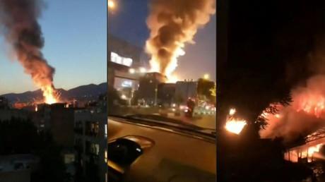 Der Iran wurde seit der Nacht des 26. Juni von mehreren schweren Explosionen erschüttert, wie hier in der Sina-Athar-Klinik in Teheran am 30. Juni.