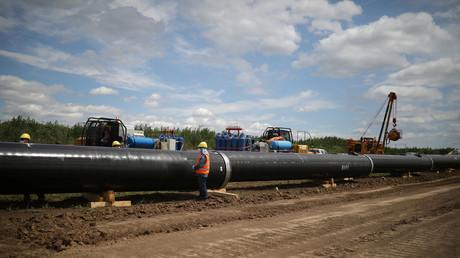 Arbeiten an der Verlängerung der russischen TurkStream-Pipeline in Bulgarien
