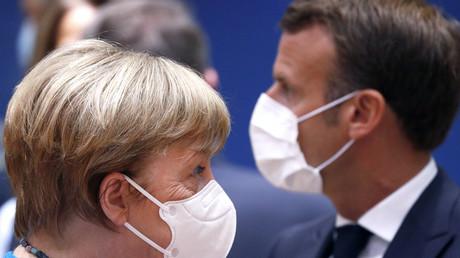 Festgefahren: Merkel und Macron auf dem EU-Gipfel in Brüssel am Samstag