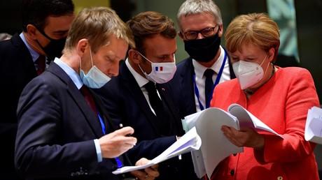 Gipfelteilnehmer am Montag in Brüssel